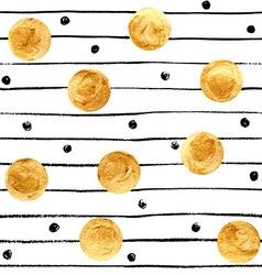 Golden spots background vector image