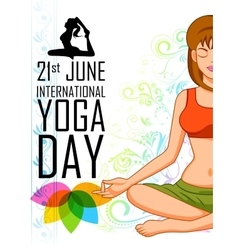 International yoga day vector