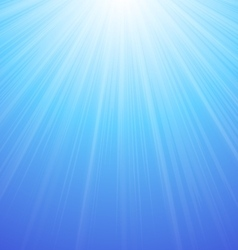 Abstract blue sky background sun vector