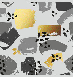 Abstract seamless pattern with golden brush vector