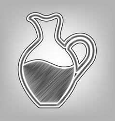 Amphora sign pencil sketch imitation vector