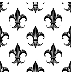 Bold stylized fleur de lys pattern vector