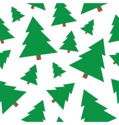 Christmas tree seamless vector image