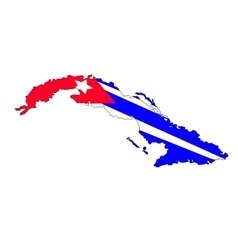 Cuba map vector