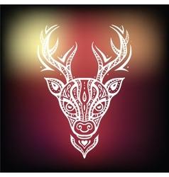 Deer head Ethnic background vector image