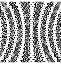 Design warped vertical decorative pattern vector image vector image