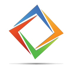 Diamond colorful logo vector
