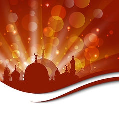 Elegant religious card with beautiful mosque vector image vector image