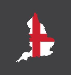 england flag and map vector image vector image
