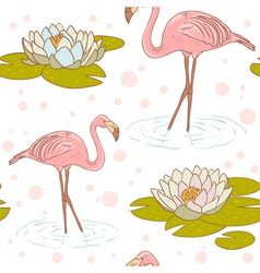 Flamingo seamless vector