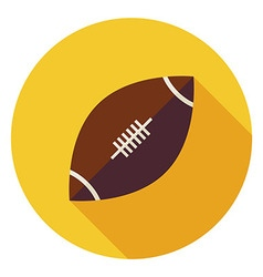Flat Sports Ball American Football Circle Icon vector image vector image