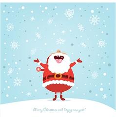 Funny Santa vector image vector image