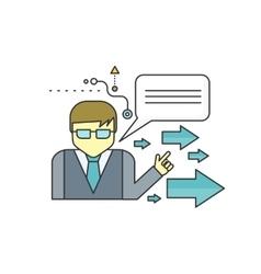 Mentor Concept Icon vector image