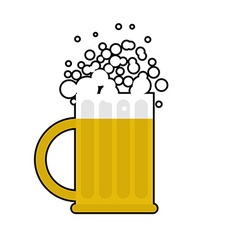 Mug of beer on white background Large cup for vector image vector image