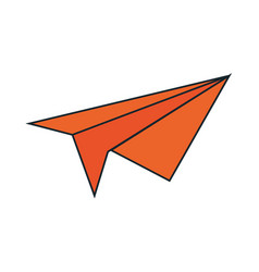 paper airplane isolated icon vector image vector image
