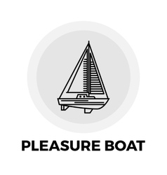 Pleasure boat line icon vector