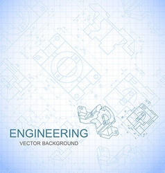 Poster cover banner background of engineering vector image