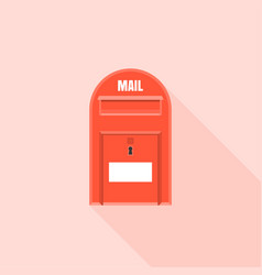 Red mail box vector