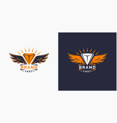 the logo and the wings logo template for your vector image vector image