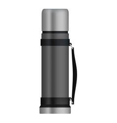travel thermos mockup realistic style vector image