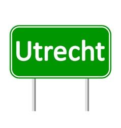Utrecht road sign vector image vector image