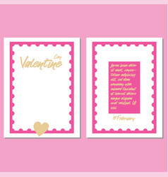 valentines day party greeting cards vector image vector image