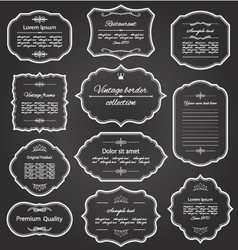 Vintage frame set vector