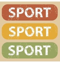 Vintage sport stamp set vector