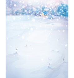 winter nature scenery vector image vector image
