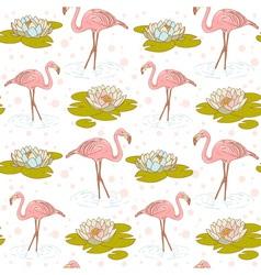 Flamingo seamless big vector image