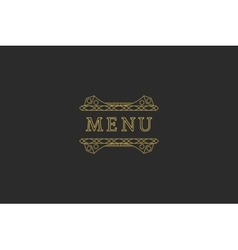 Restaurant Menu Headline vector image