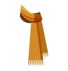 Winter scarf icon cartoon style vector image