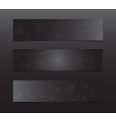Horizontal rectangle black banners snow winter vector