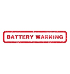 Battery warning rubber stamp vector