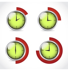 Timer set vector image