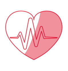 cardiology medical symbol vector image