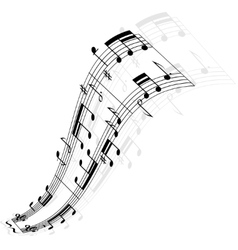 Music notes wave vector