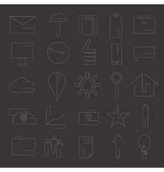 line craft web icons set for business vector image