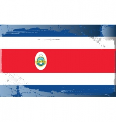 costa rica national flag vector image