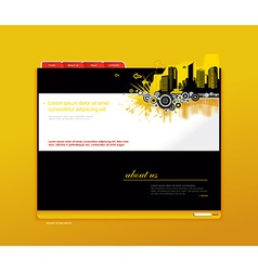Website template with city art vector image