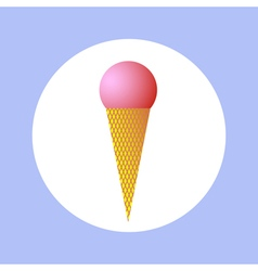 Ice cream in circle vector