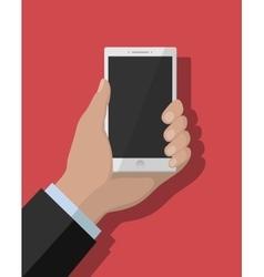 Smartphone flat concept vector image