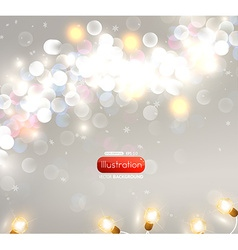 Romantic blurred lights background vector