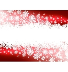 Red winter background  snowflakes eps 8 vector