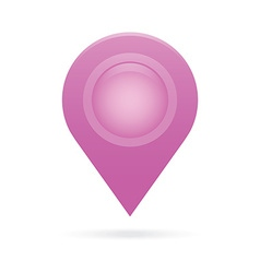 Purple map pointer icon marker gps location flag vector