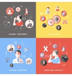 Bronchial asthma concept vector
