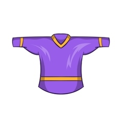 Ice hockey sweater icon cartoon style vector