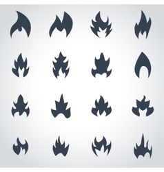 Black file icon set vector