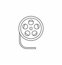 Film reel icon in outline style icon outline style vector