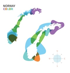 Abstract color map of Norway vector image